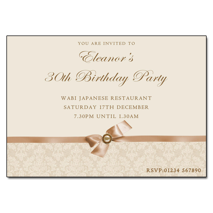 Classic Ivory - Damask Vintage Party Invitations