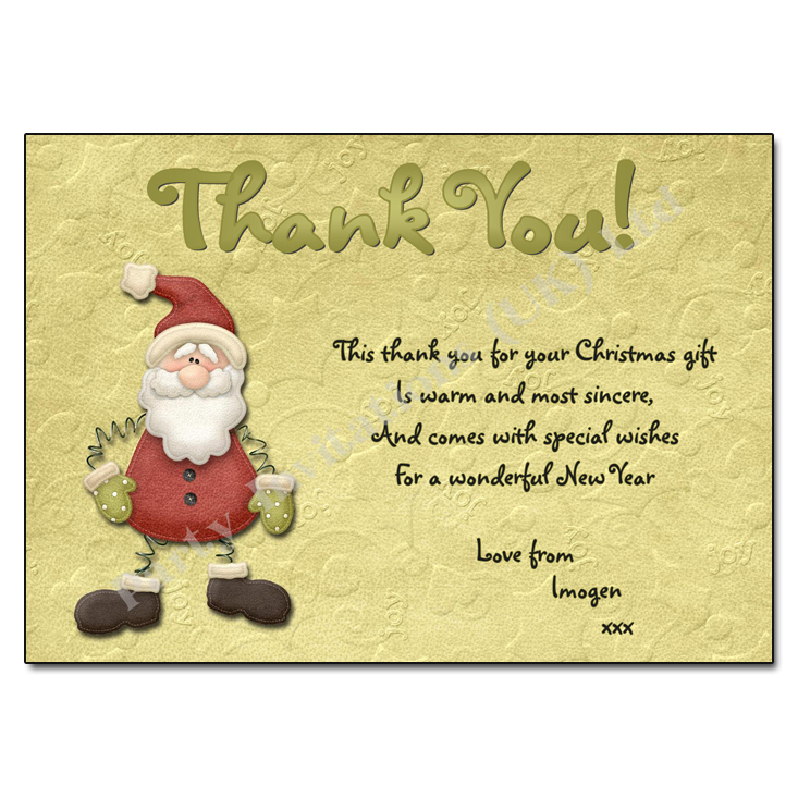 Jolly Santa Christmas Thank You Note