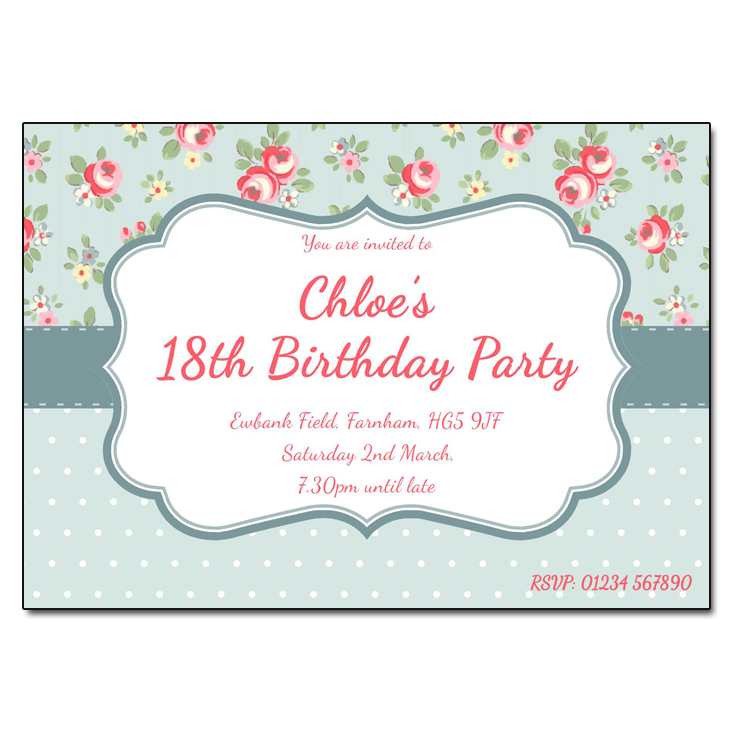 Chintz - Damask Vintage Party Invitations