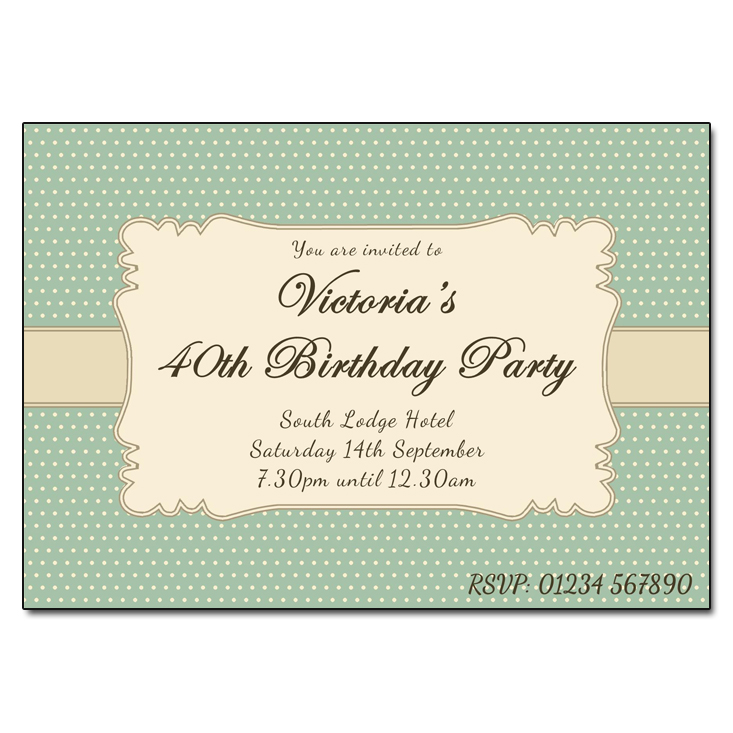 Victorian Vintage - Damask Vintage Party Invitations