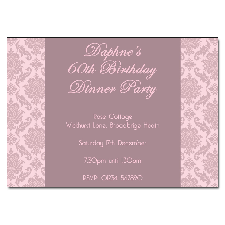 Dusky Damask - Damask Vintage Party Invitations