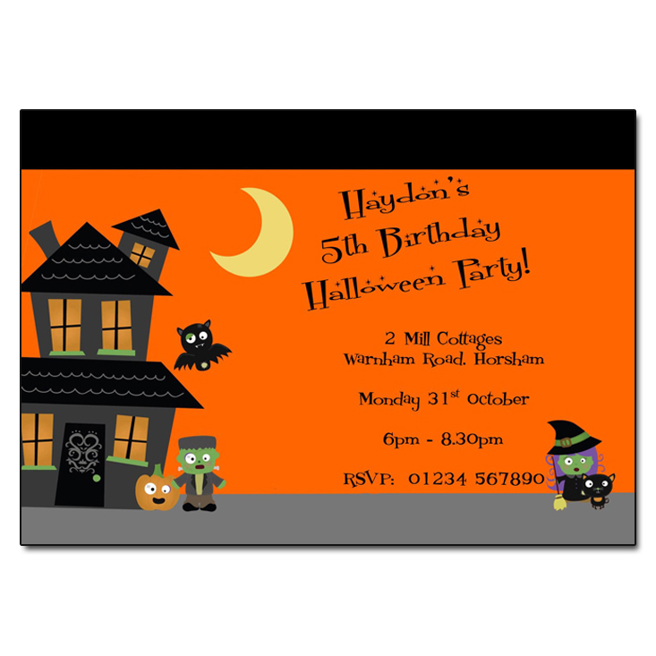 Halloween Party invitations - Frankenstein Junior