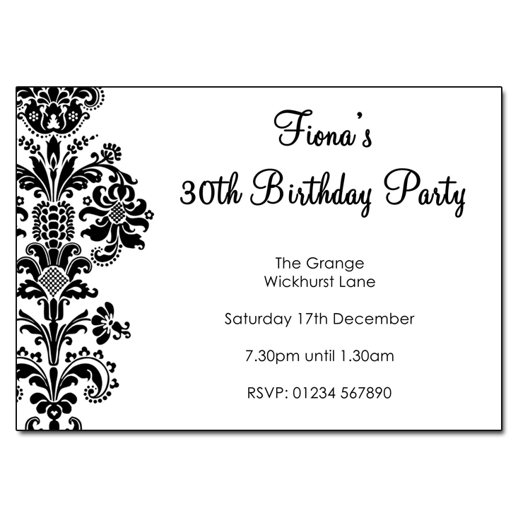 Simple Damask - Damask Vintage Party Invitations
