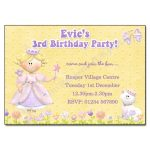 1 Princess - childrens party invitation