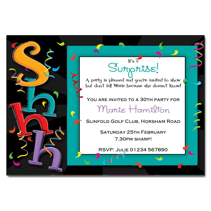 Shhhh - Surprise Party Invitations