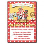 10 Circus - childrens party invitation