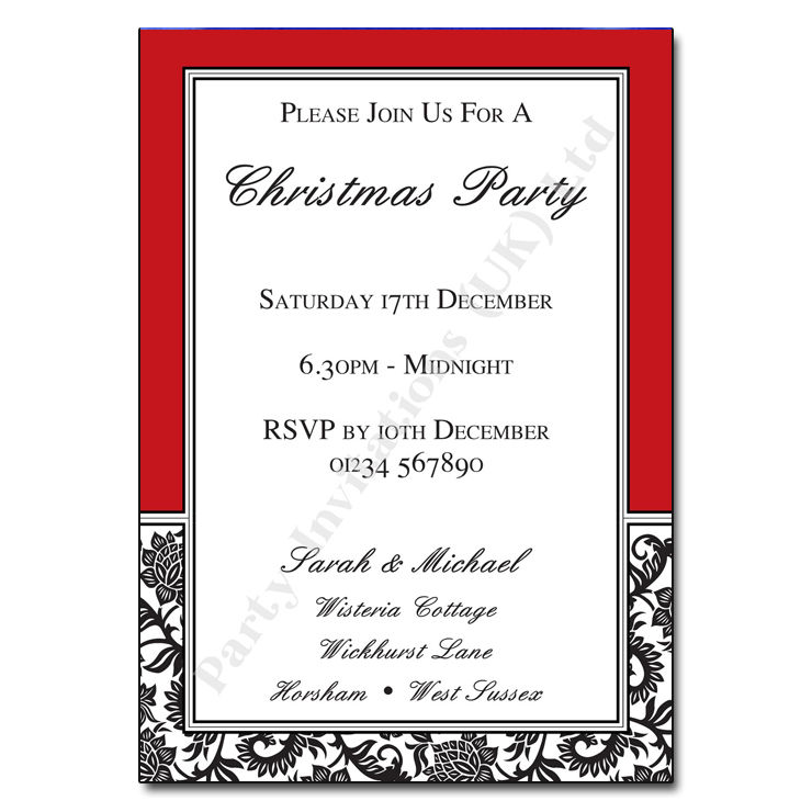 black and white party invitations - Etame.mibawa.co