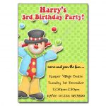 11 Clown - childrens party invitation