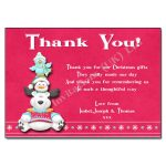 11 Polar Pals - Christmas Thank You Note