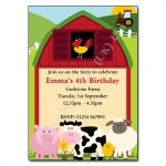 12 Farm - childrens party invitation