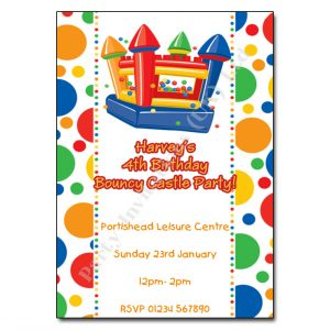13 Bouncy Castle - childrens party invitation