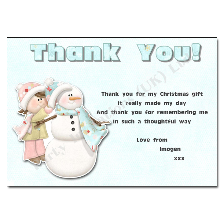 Building A Snowman Thank You Note – Thank You Note for Gift