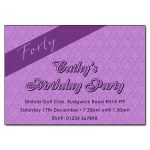 Purple Damask - Damask Vintage Party Invitations