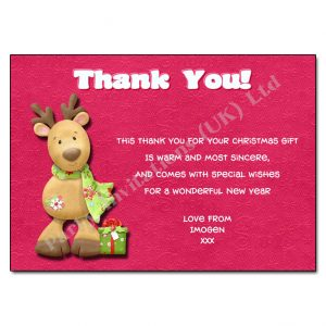 16 Reindeer - Christmas Thank You Note