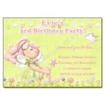 2 Fairy - childrens party invitation