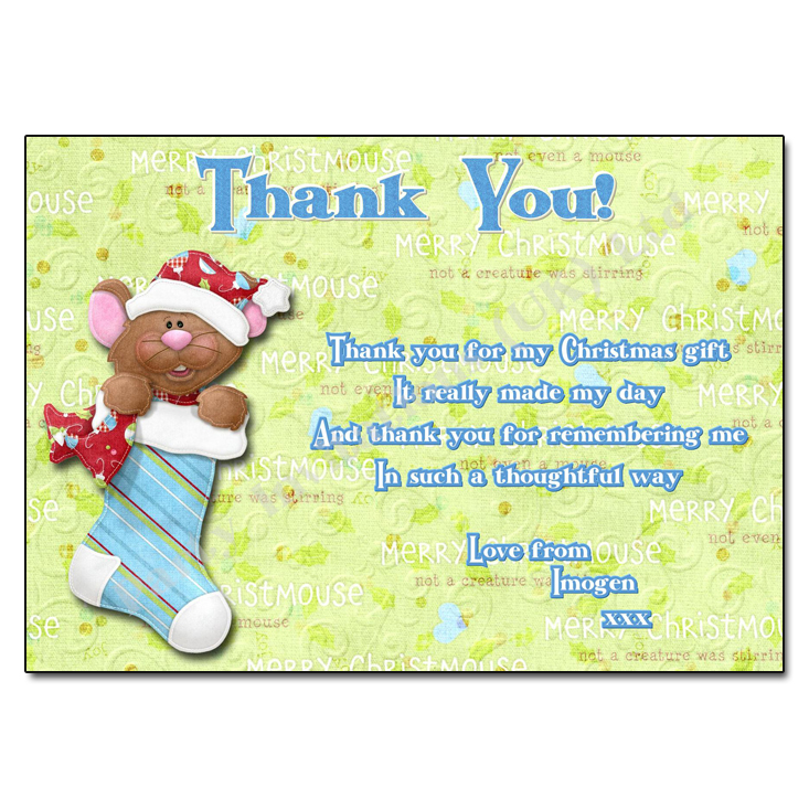 Chris Mouse Thank You Note