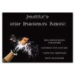 Exploding Champagne Party Invitations