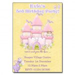 3 Fairytale Castle - childrens party invitation