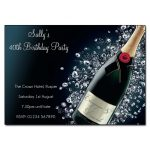 Champagne & Diamonds Party Invitations