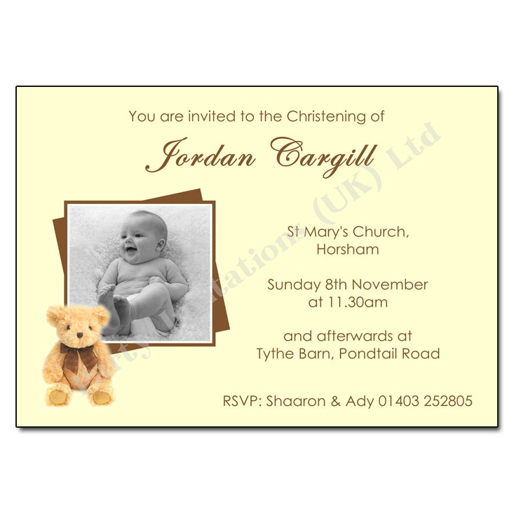 Teddy Bear Cream | Create your own Invitations