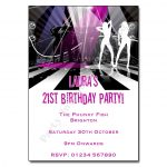 6 Dancefloor- Pink and Black Disco Funky Party Invitations