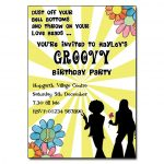 70s Groovy Party Invitations