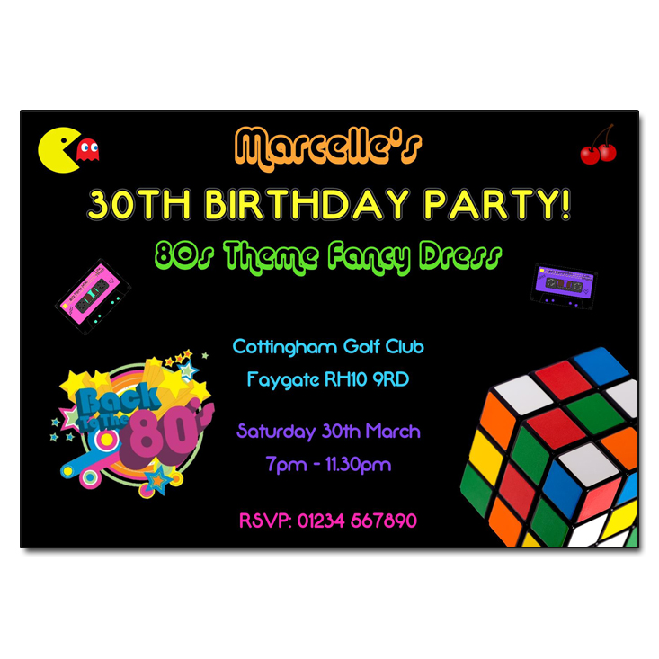 80s Retro Party Invitation | 80s Party Invites