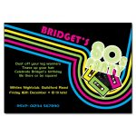 80s Neon Party Invitations