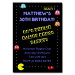 80's Pacman Party Invitations