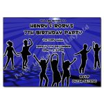 Blue Disco - Childrens invitations