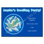 Bowling - childrens activity party invitations