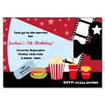 Cinema - childrens activity party invitations