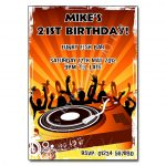 DJ Decks- Funky Party Invitations