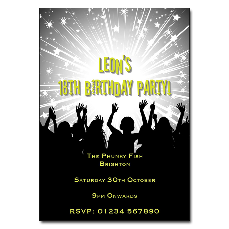 Disco Rave - Disco Party Invitations