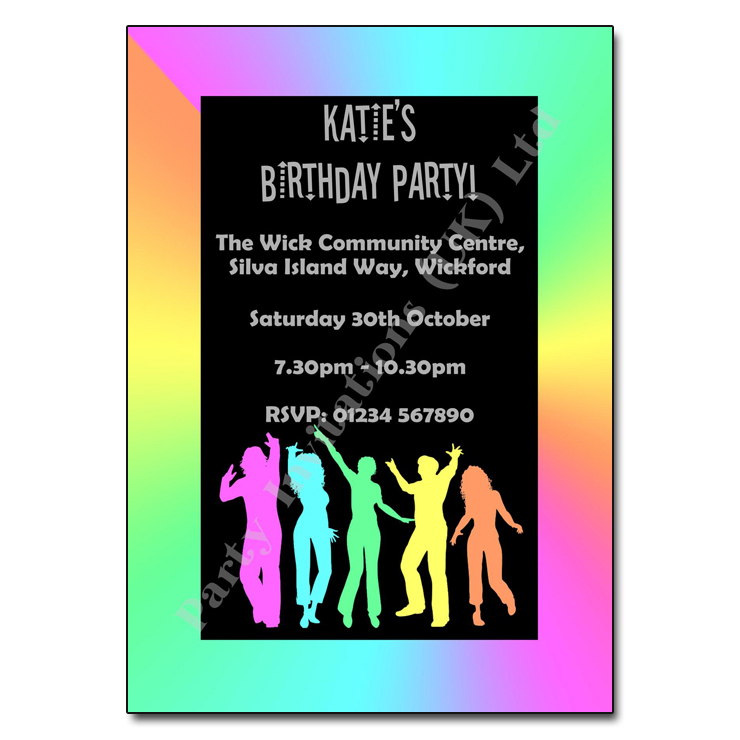 Funky Party Invite Party Invitations Uk
