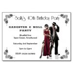 Gangster & Moll Themed Party Invitations