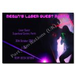 Laser Party Pink - childrens activity party invitations
