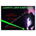 Laser Party - childrens activity party invitations