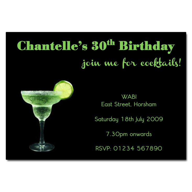 Margarita Birthday Party Invitations