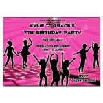 Pink Disco - Childrens invitations