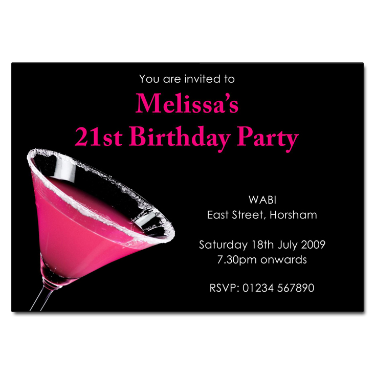 Pink Martini Party Invitations