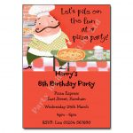 Pizza - childrens activity party invitations