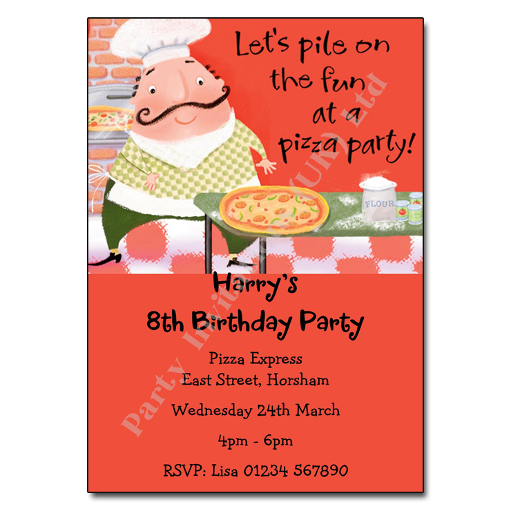 Pizza Party Invitation – Personalised Party Invites