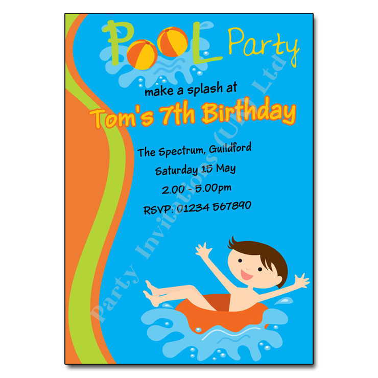 pool swimming party invitation party invites