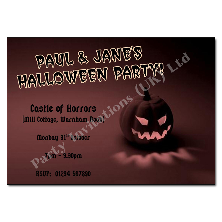Pumpkin Halloween Invitation