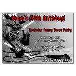 Rockstar Themed Party Invitations