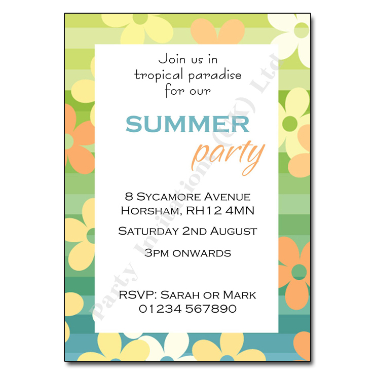 Flowery Summer Invitation