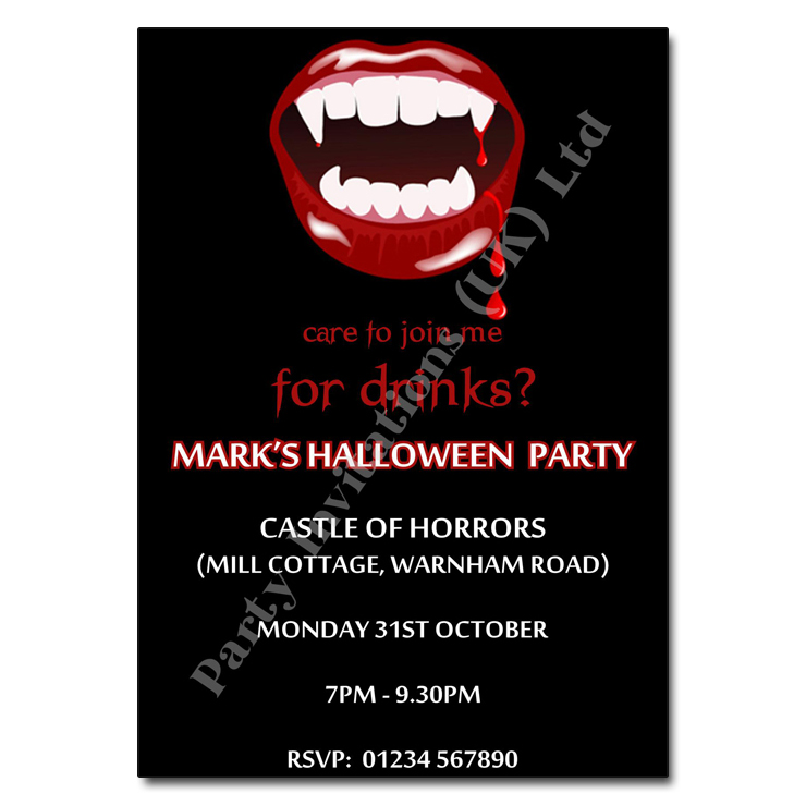 Vampire Halloween Invitation