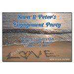 Love on the beach engagement invite