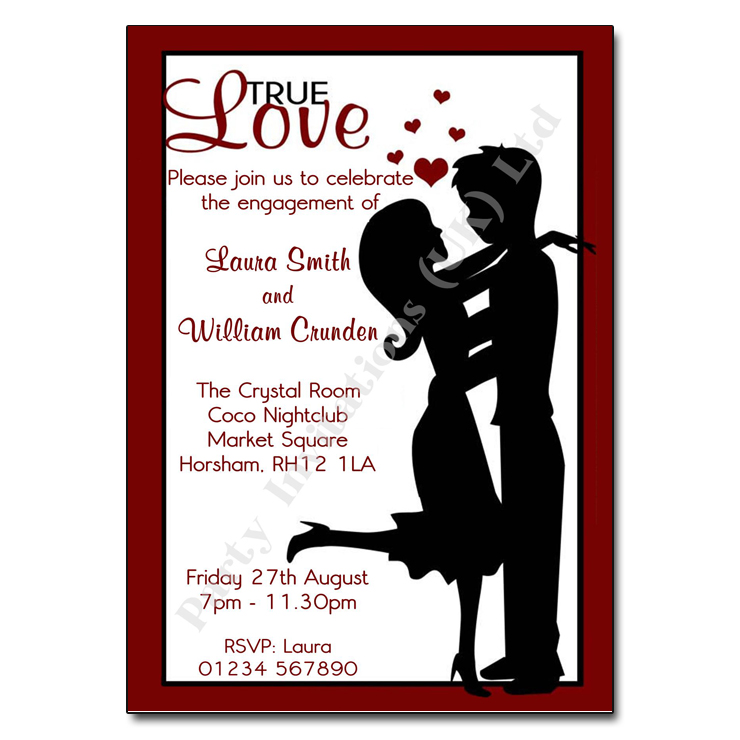True Love engagement party invitation